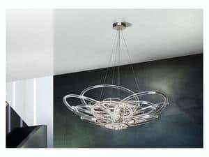 Flair lampadario, Lampada a sospensione per uffici e ville in stile moderno