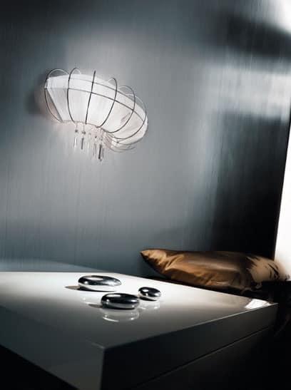 Full Moon applique, Lampada da parete dalla forma sinuosa e seducente