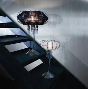 Full Moon lumetto, Lampada con struttura in metallo, varie finiture