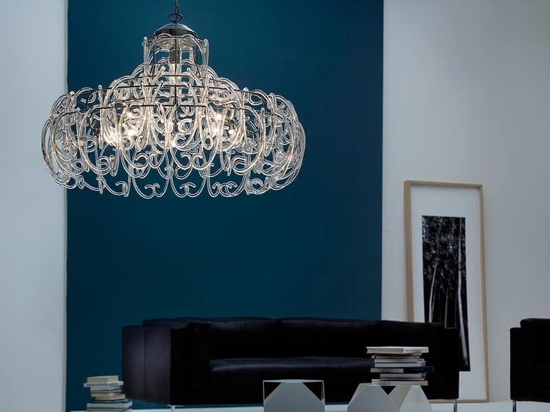 Gemini lampadario, Lampada a sospensione con 9 luci per Camere moderne