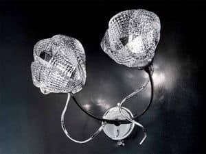 Gomitoli applique, Lampada da parete con particolari in ferro forgiato