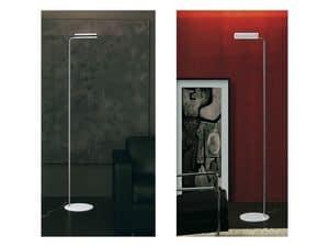 Loft, Lampada alogena da pavimento in acciaio e alluminio