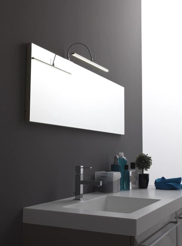Look me applique cod. 01198/L40, Applique moderna per la casa, applique con luce led per lo specchio