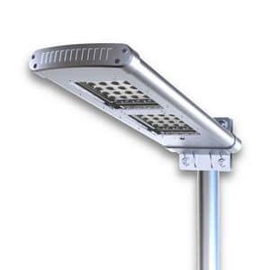 Lampione ad energia solare professionale � LS048LED, Luce led per esterni, luce a energia solare da giardino