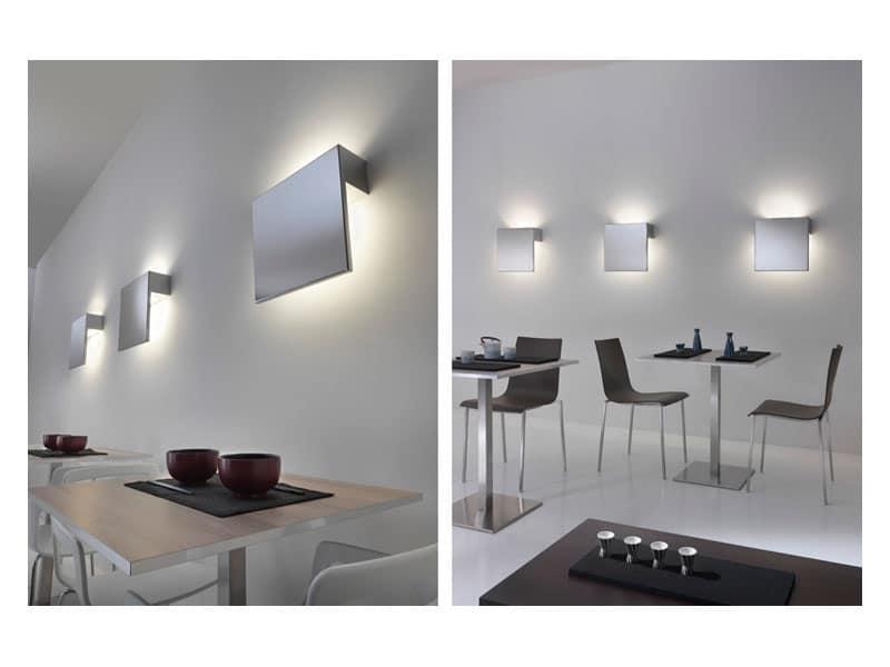 Plafoniere Da Muro Design : Lampada da muro in acciaio inox lucido idfdesign