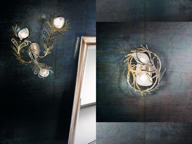 Illuminazione a parete in varie versioni stile moderno idfdesign