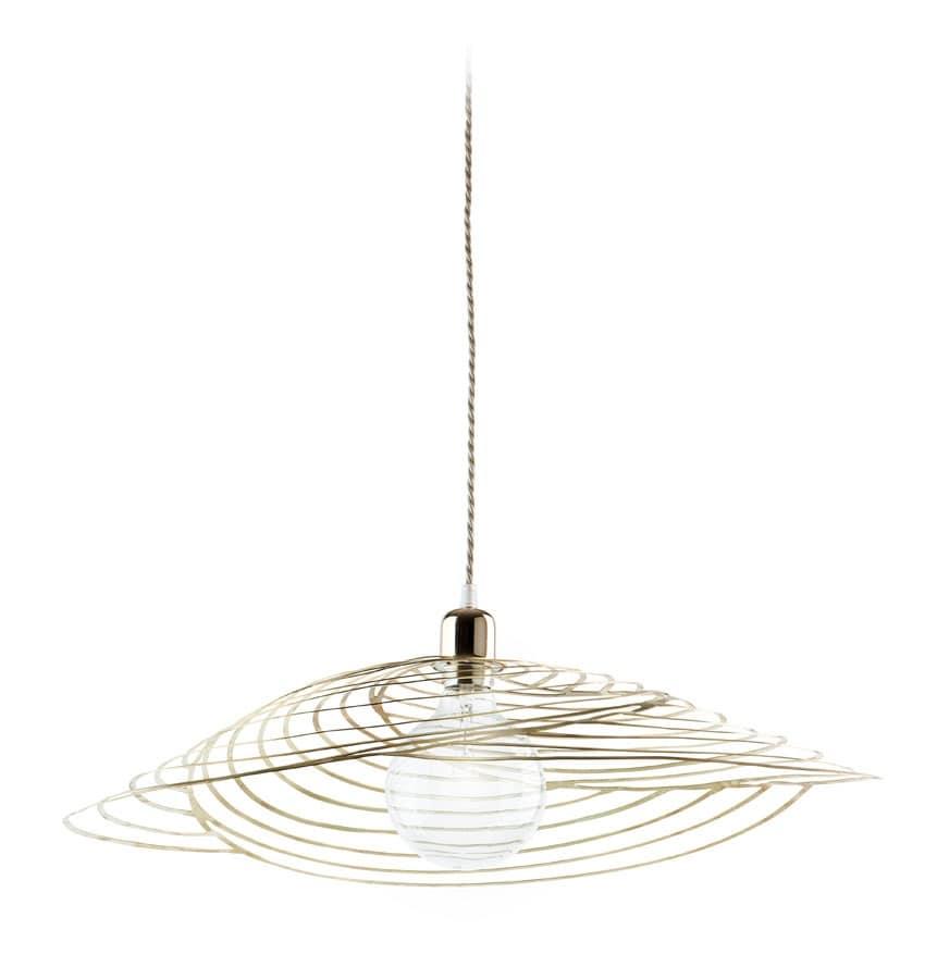 Nido Lamp, Lampada a sospensione in metallo tagliato laser, per la ...