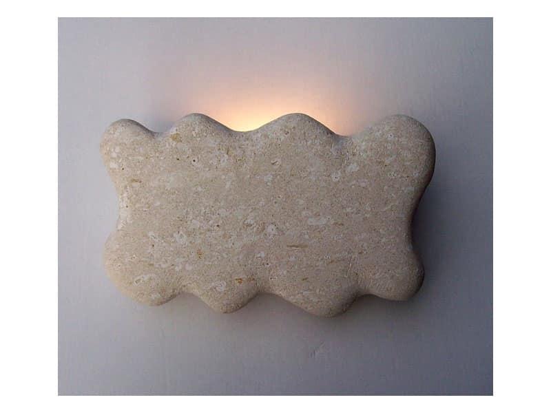 Lampada applique in pietra bianca di vicenza idfdesign