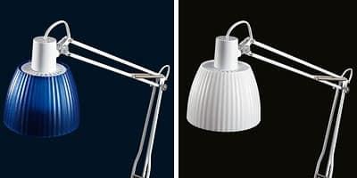 Opera, Lampada da tavolo per lampadine fluorescenti, for studi