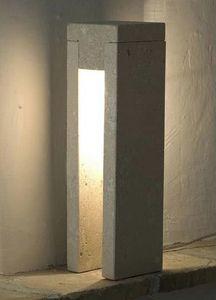 Oso, Lampada da terra in pietra, luce ad incandescenza