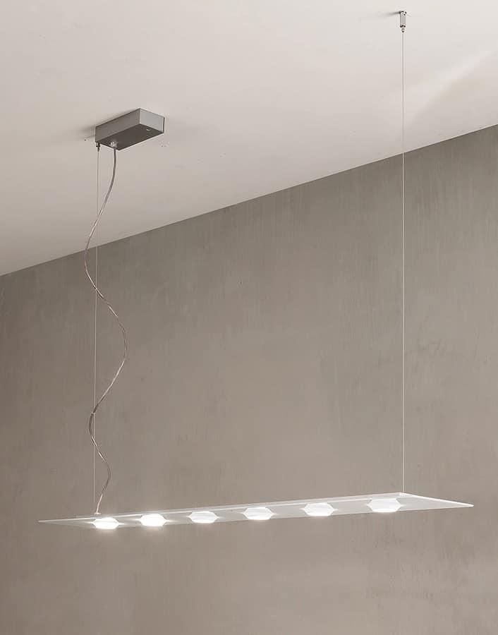 Lampada a sospensione per ufficio lampada sospensione a led per sala riunione idfdesign - Lampade a led per cucina ...