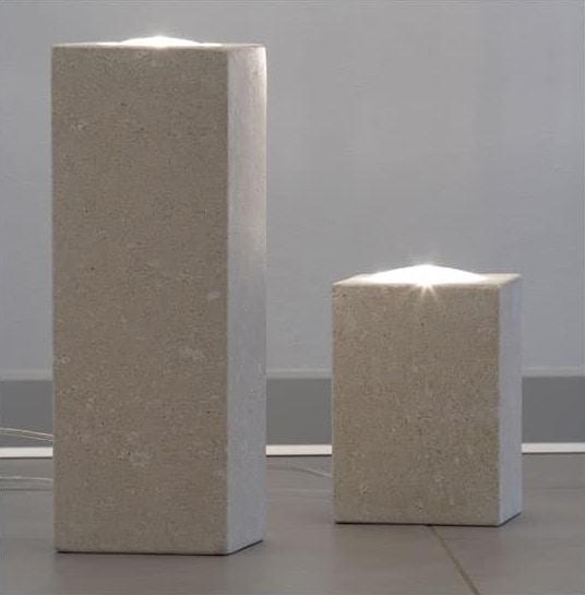Lampada per la casa in pietra illuminazione dicroica idfdesign