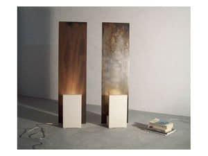 Reflex-Acid, Lampada da terra con struttura in pietra e ferro
