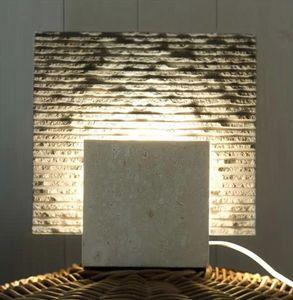 Reflex Pietra, Lampada da terra in pietra, forma cubica