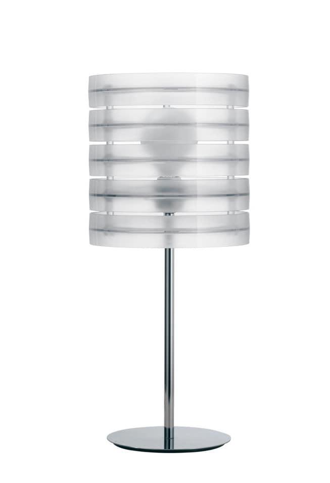 Ring, Lampada in tecnopolimero componibile in altezza