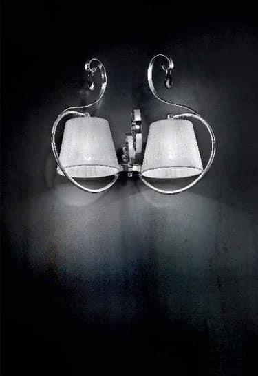 Romantica applique, Lampada da parete con struttura in metallo cromato