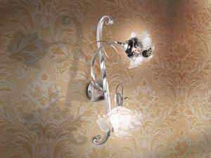 Rose applique, Lampada da muro con diffusori a forma di rosa, per salotto