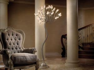 Soffio piantana, Lampade da terra in ferro e in vetro, varie finiture