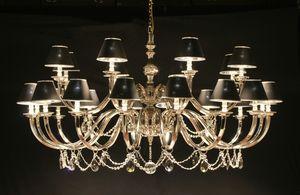 Art. 16950/16+8, Lampadario a 24 luci, con pendenti in cristallo