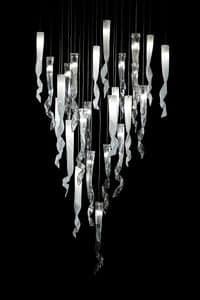 Comete lampadario, Lampadario in vetro di Murano