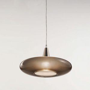 Forme Ls620-010, Lampada in vetro tortora satinato