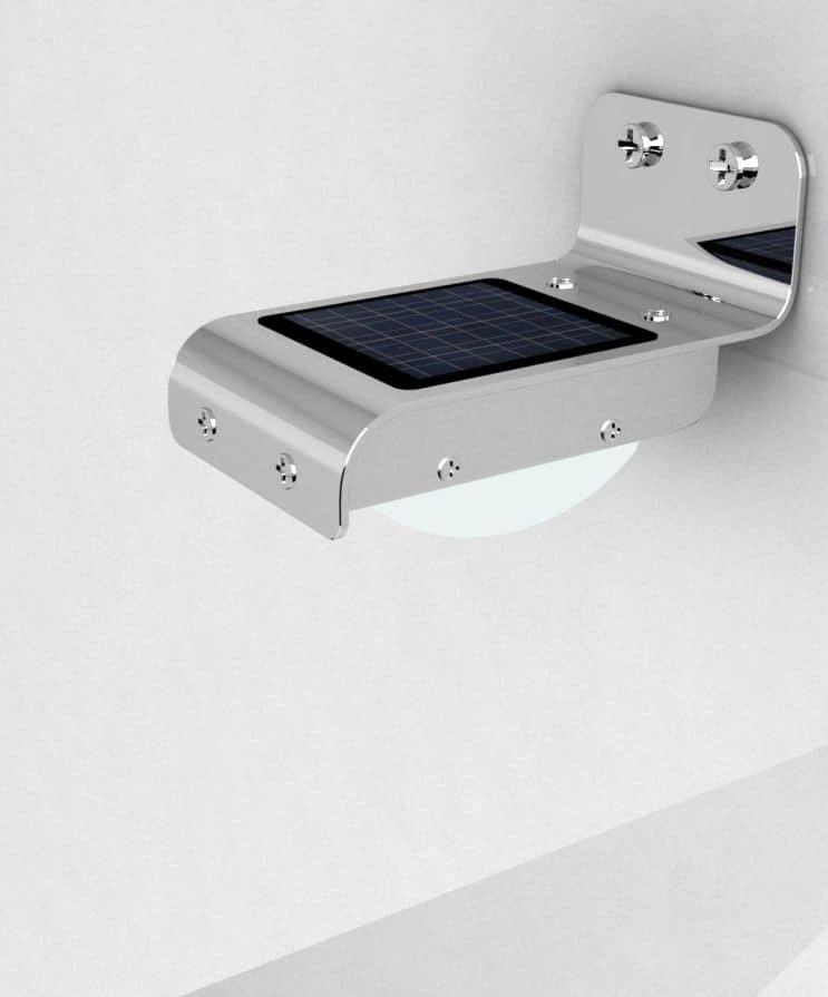 Applique led per esterni, lampada a muro con pannellino solare ...
