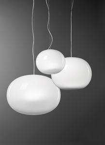 Aria, Lampada in vetro soffiato bianco latte