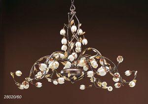 Art. 28020/60 Fior di Loto, Maestoso lampadario con decori floreali