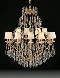 Art. 3881/12+6, Lussuoso lampadario ideale per l'arredo classico