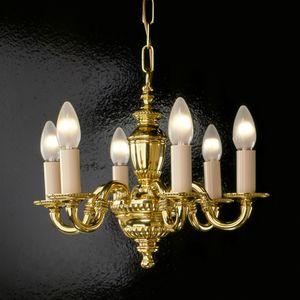 Art. 520, Lampadario in ottone con luci