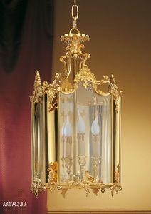 Art. MER 331, Lanterna classica in Ottone dorato