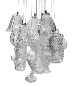 Ceraunavolta composizione 2, Lampadario in vetro soffiato, modulare