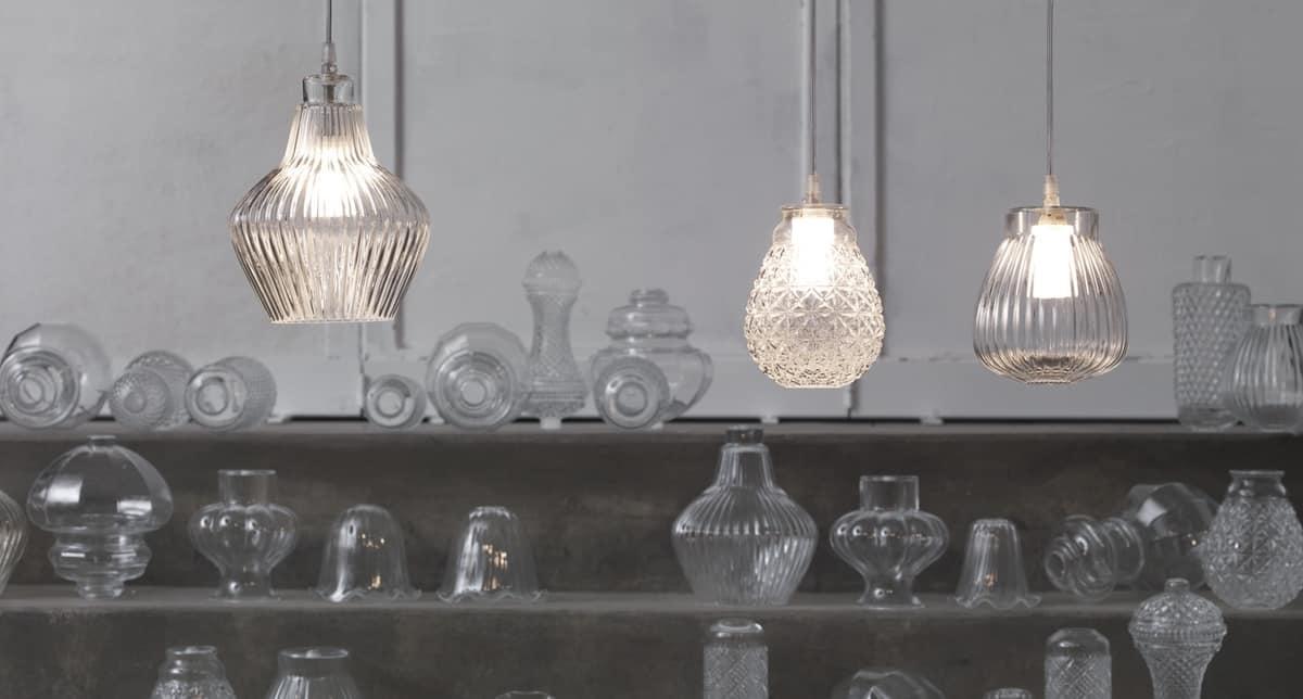 Lampade A Sospensione Allaperto : Lampada a sospensione in vetro dal design classico idfdesign