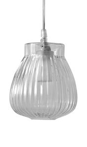 Ceraunavolta SE135 1S INT, Lampada a sospensione in vetro, dal design classico