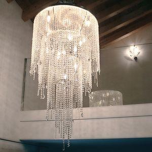 Circus SS4065-80�135-N1, Lampadario a sospensione con lunghi pendenti in cristallo
