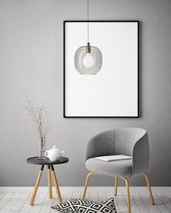Cochi, Lampada sospensione con diffusore in vetro