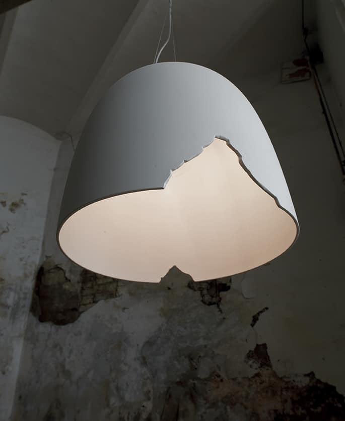 Crash SE114 1B INT, Lampada a sospensione in ceramica, abbinabile al vassoio complementare