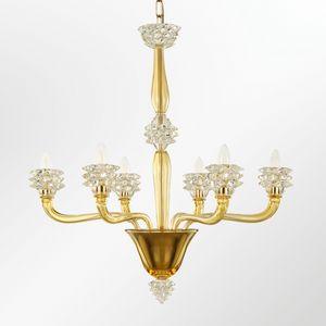 Diamante L0355-6-AC, Lampadario in vetro artistico veneziano