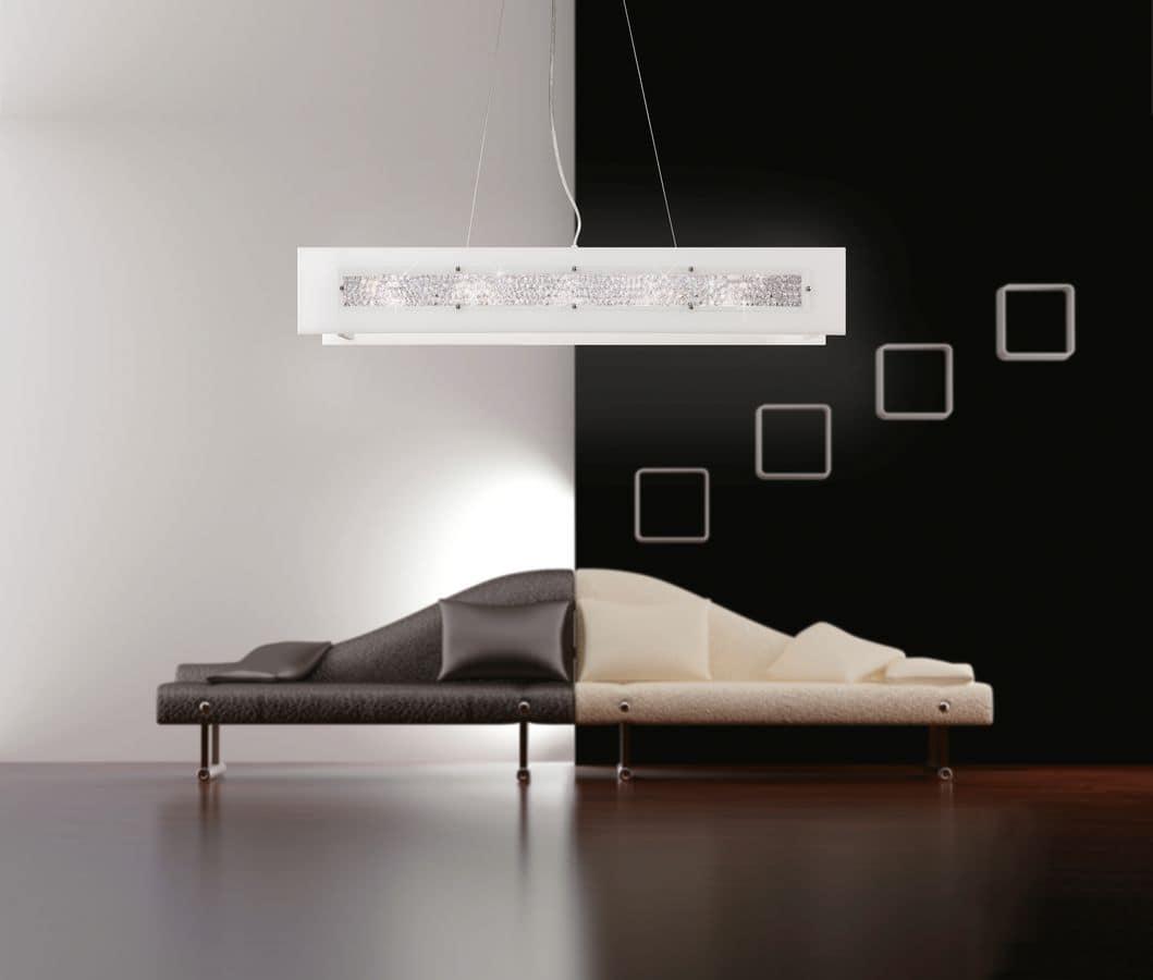 DUBAI S100 Lampada A Sospensione Moderna Ideale Per Sale Da Pranzo E  #191511 1059 900 Lampada Sala Da Pranzo