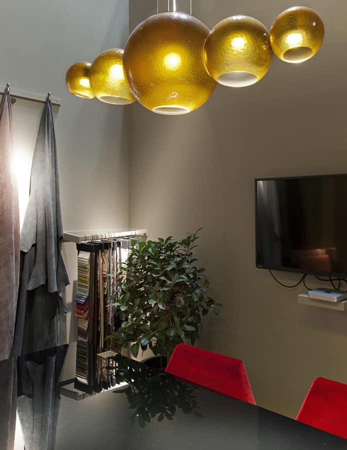 Fizzy lampadario in vetro soffiato lampadario prezioso - Lampadari sala pranzo ...