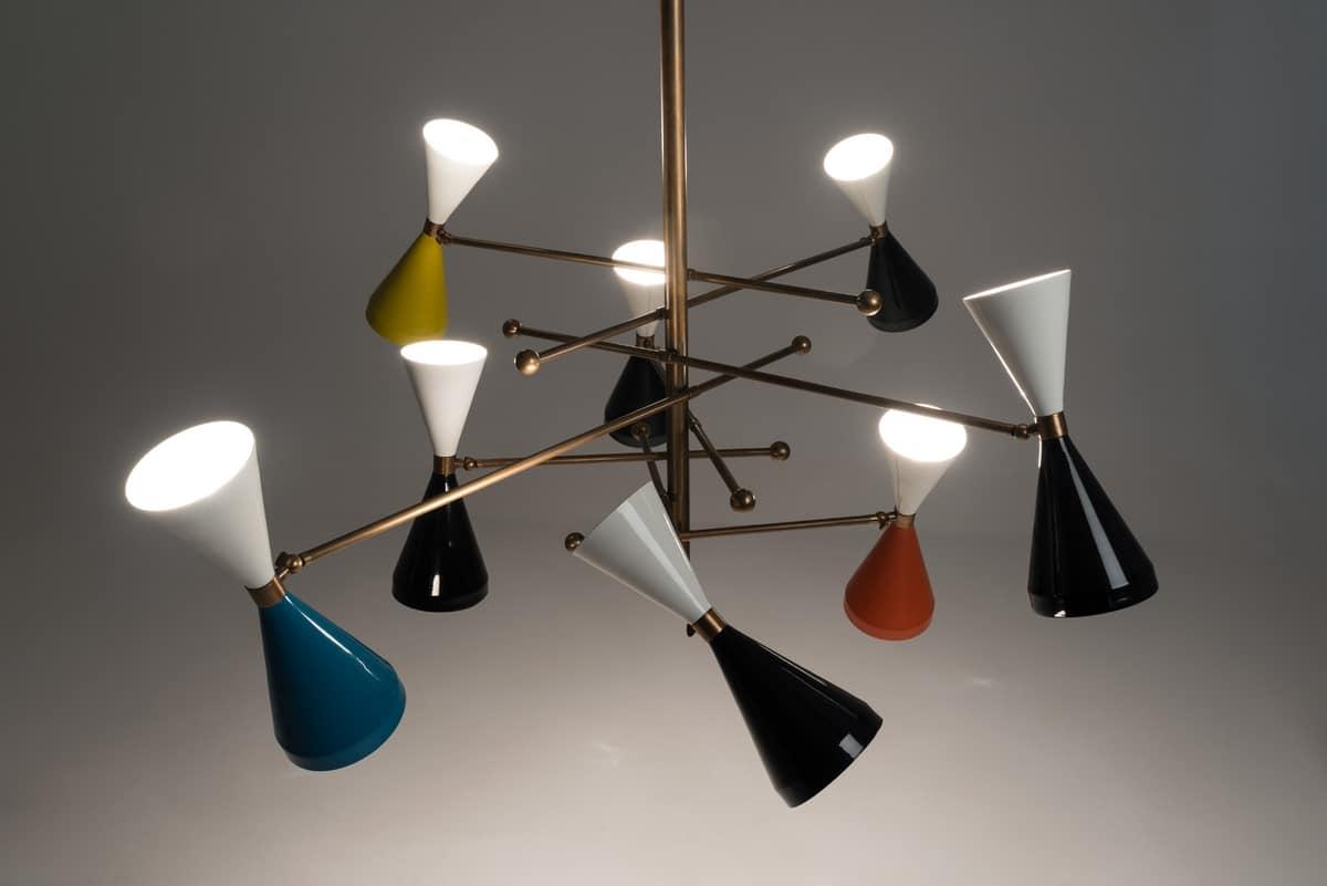 Flipper lampadario, Lampadario dal design vintage