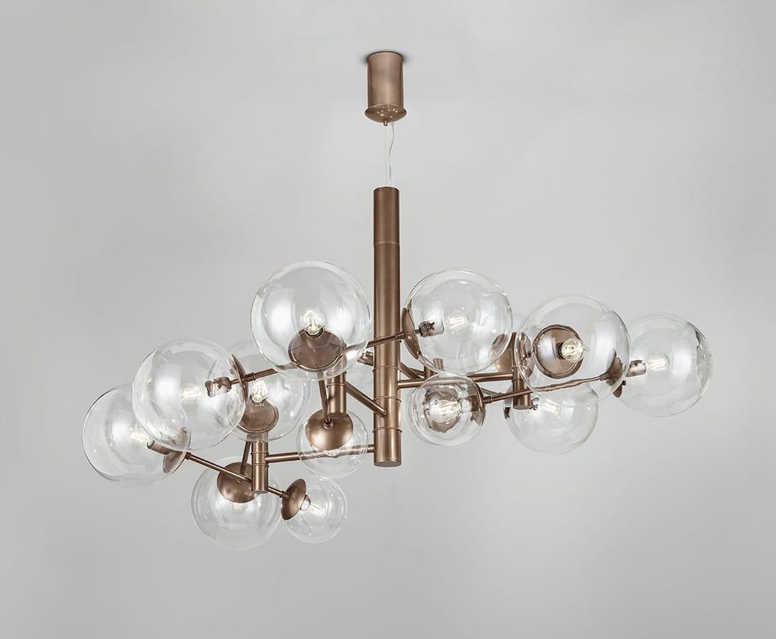 Lampada a sospensione con sfere in acrilico idfdesign