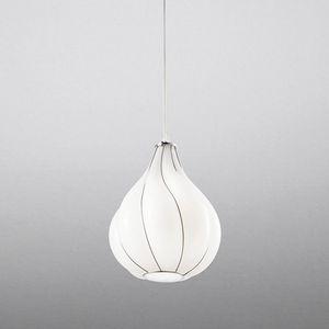 Goccia Rs409-030, Lampada a sospensione in vetro bianco