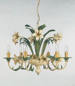 L.3635/6, Lampadario con decorazioni floreali
