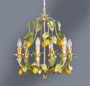 L.4885/6, Lampadario con decorazione foglie e limoni