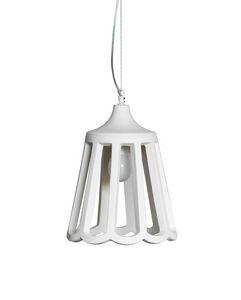 Le Pupette SE131 2B INT, Elegante lampadario in ceramica naturale