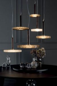 MACRAB� lampade, Lampade in legno massello e vetro in fusione