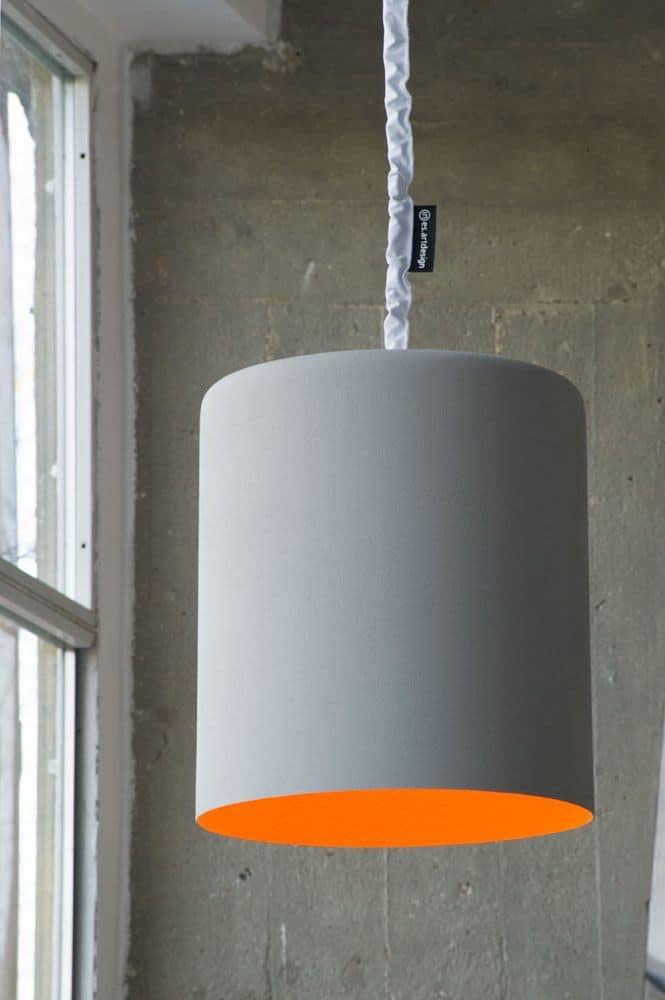 Matt Bin Cemento, Lampada sospesa in cemento ideale per loft e ambienti moder...