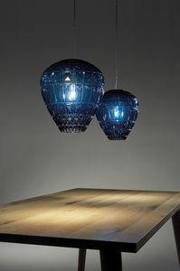 Reflex, Lampada in vetro, con elementi geometrici decorativi