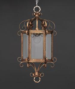 RICCIOLINI HL1109CH-1, Lanterna esagonale in ferro